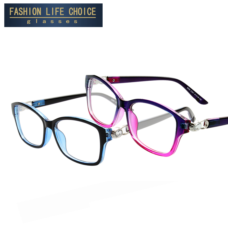 2016 New Brand Crystal connection Women men Glasses frame ...