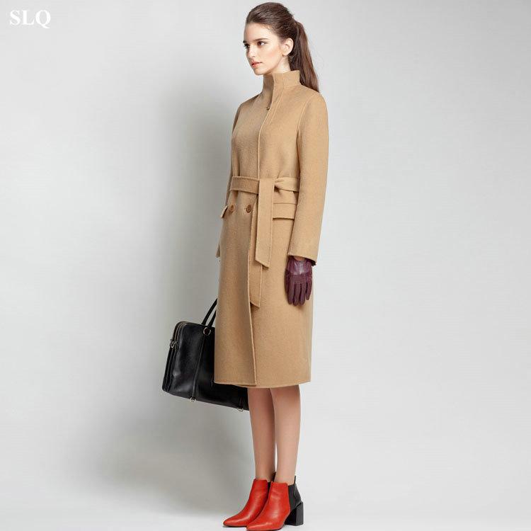 Ladies Camel Wool Coat