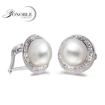 Fashion Freshwater Pearl Earring for women white pearl earrings 925 sterling silver earring jewelry trendy gir birthday gift