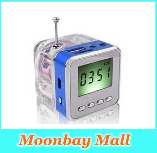 Free Shipping Original NIZHI TT-028 FM Radio Mini Speaker Portable Micro SD / TF Music TT028 MP3 Player Sound Box LCD Screen(China (Mainland))