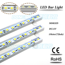 Buy U/V Shape Aluminium Profile 72leds 1m LED luces Strip DC 12V led luces bar light 5050 home kitchen led under cabinet light for $188.82 in AliExpress store