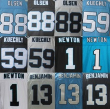 Cheap Men's Authentic #1 Cam Newton Jersey #24 Josh Norman #59 Luke Kuechly #88 Greg Olsen 100% Stitiched Logo Jerseys(China (Mainland))
