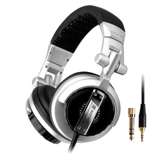New ST-80 Professional Monitoring Headphones HIFI Headsets Quality Heavy Bass Music Earphone for PC Phone Silver&Black(China (Mainland))