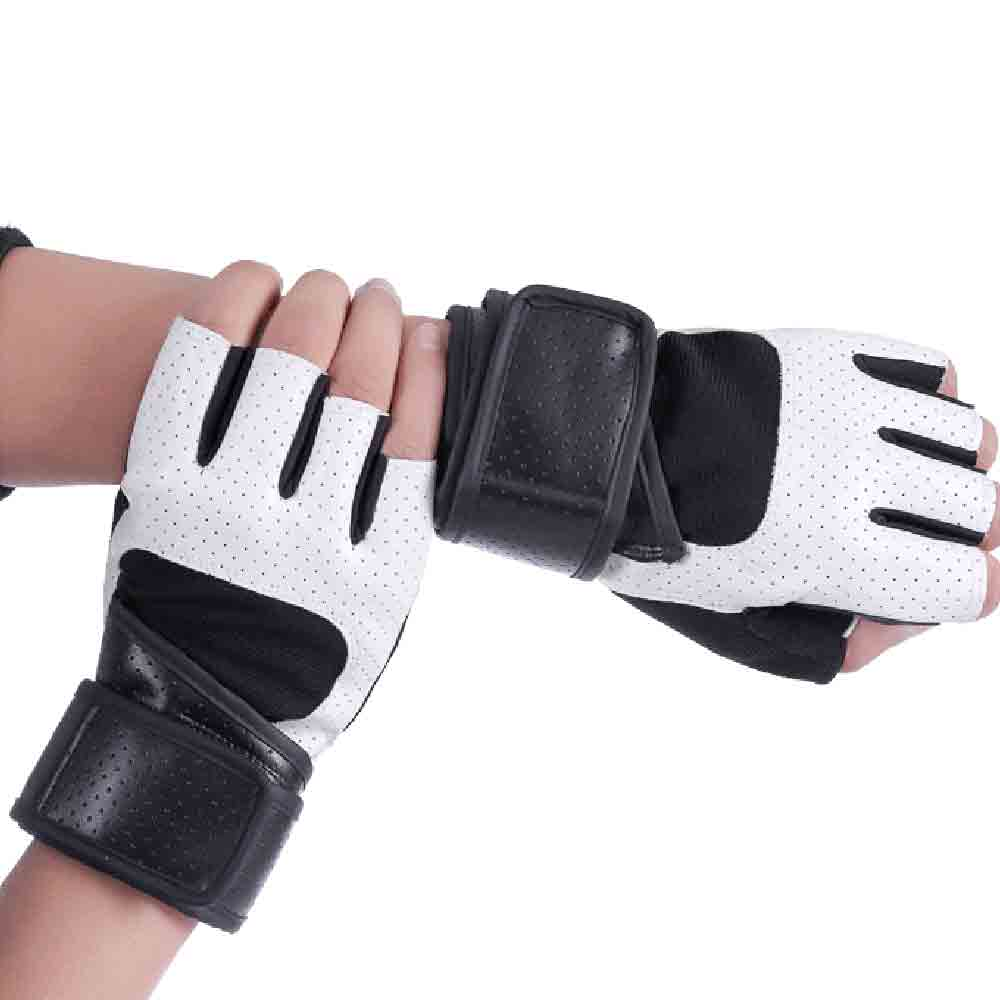 Extended wristbands chun gym weightlifting half gloves antiskid/breathable wear gloves