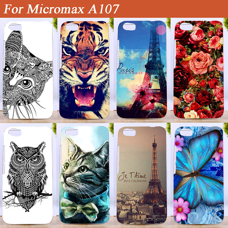 Case For Micromax A107 a107 SOFT TPU Cover Stand Eiffel Towers Colored Printing For Micromax Canvas Fire 4 A 107 tpu Case Cover(China (Mainland))