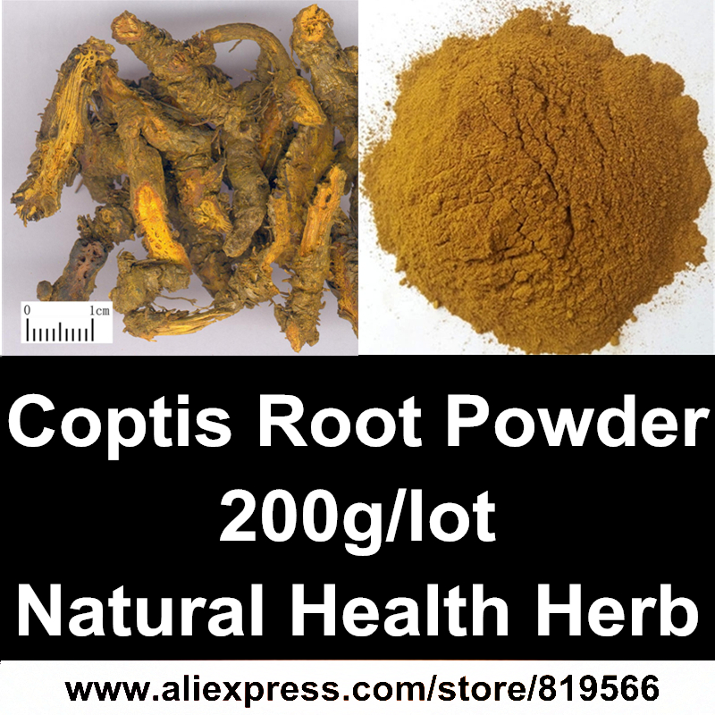 Dried Coptis chinensis Franch Root Powder 200g Organic huanglian Plant Chinese Health Care Berberine herbs Coptidis Powder<br><br>Aliexpress