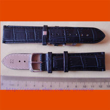 1 x 22 mm GENUINE COW LEATHER watch band black 02