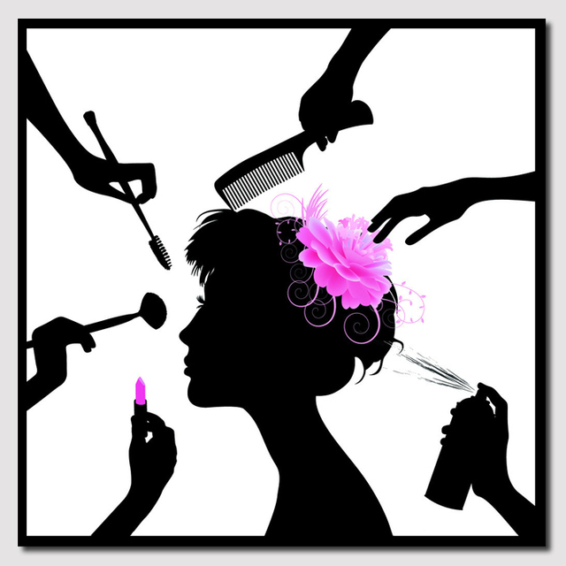 Black and white picture beauty salon beauty salon abstract for Abstract beauty salon