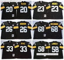 New Black 33 Hoge Throwback 20 Rocky Bleier 68 L.C Greenwood 58 Jack Lambert 31 Donnie 26 Rod Woodson 23 Mike Wagner(China (Mainland))