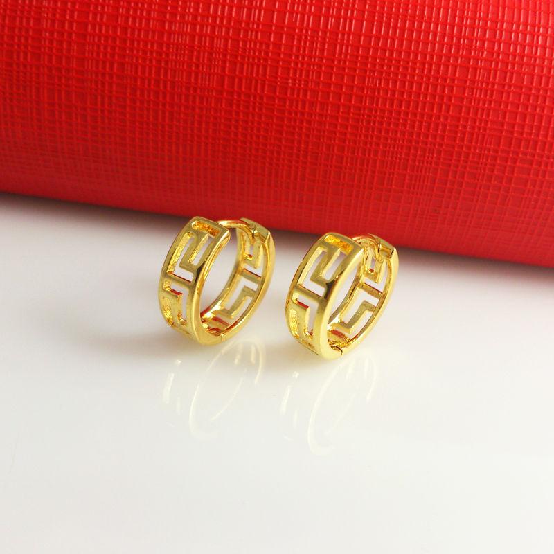 Super price!classic Jewelry delicate flawless earrings plated 24K gold earrings,, E001 - AZIZ BEKKAOUI Offical Store store