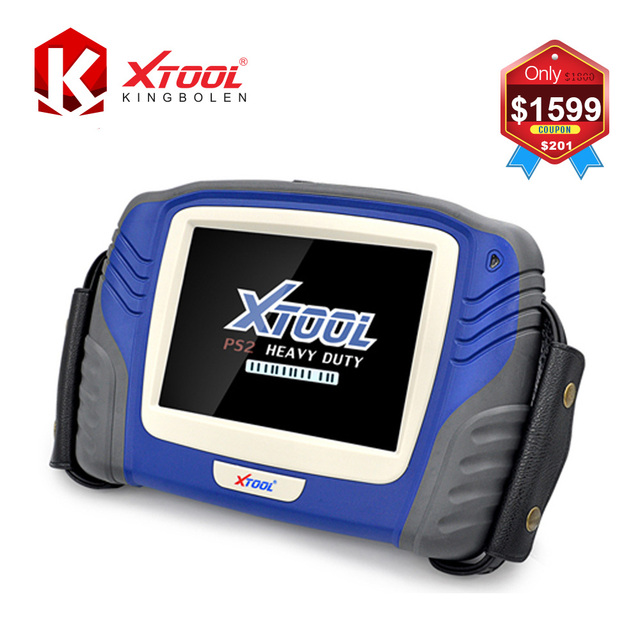 XTOOL PS2 Truck Diagnostic Tool Original Professional Heavy Duty Scanner PS 2 Update Via Internet DHL Free