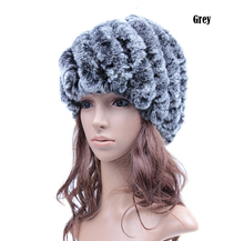 2016 New Hot Selling Women Real Rex Rabbit Fur Hat Fashion Cap Wholesale Female handmade fur caps DFP678(China (Mainland))