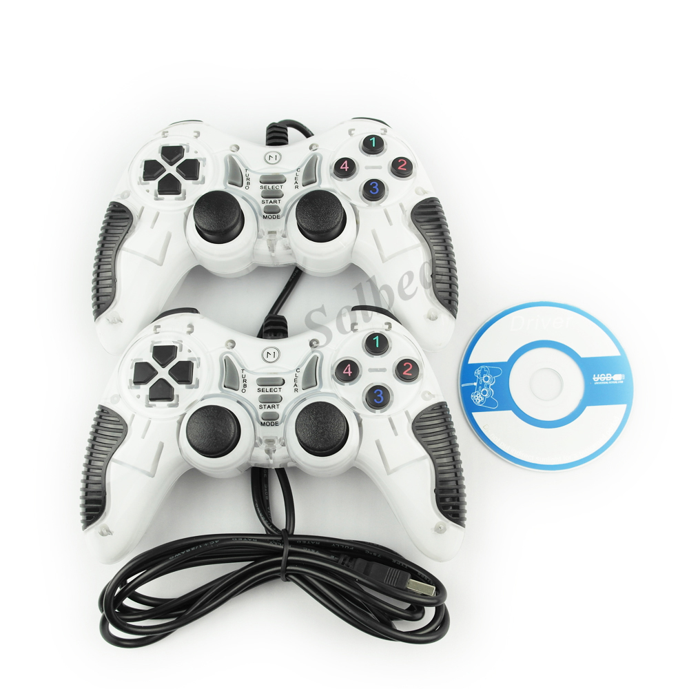 New 2pcs Wired USB PC Joypad Twins Gamepad Double Shock Joystick PC Game Controller for PC