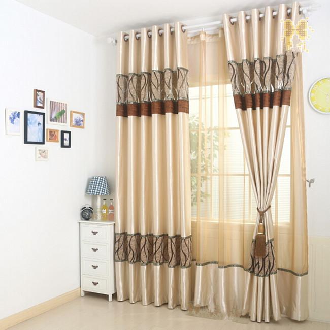 Fios de seda de luxo Continental simples de estudo sala de estar cortinas de luxo cortina de Jin tira puro(China (Mainland))