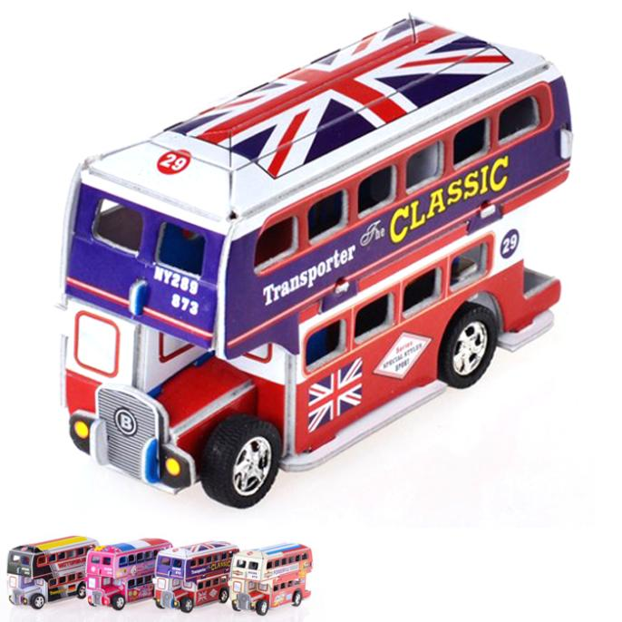 T0402 3D Puzzles Double-decker bus DIY Paper Model Kids Creative gift Children's educational toys hot sale(China (Mainland))
