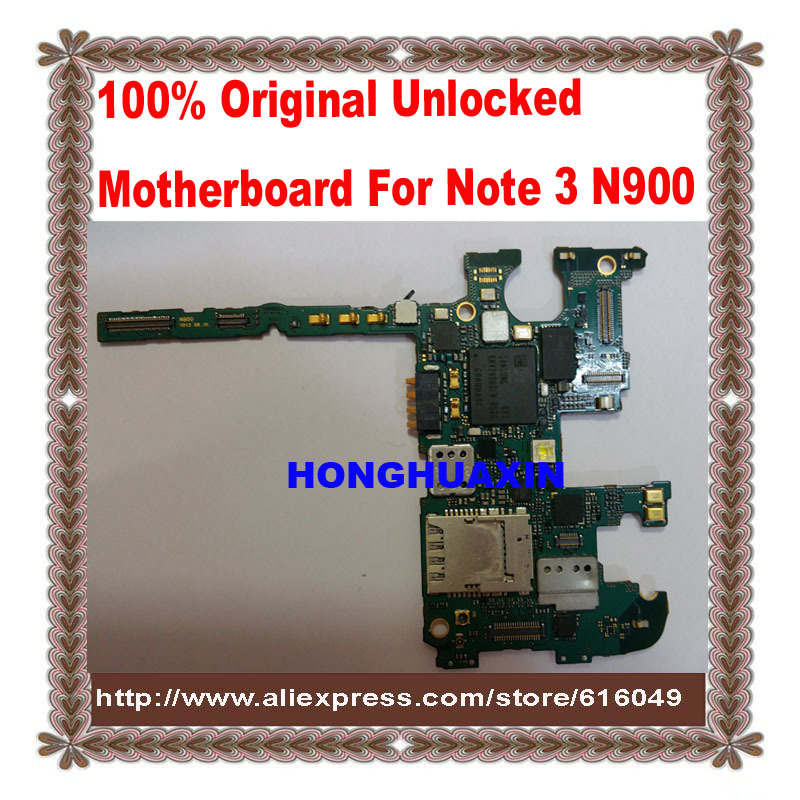 100%Original Unlocked Motherboard for Samsung Galaxy Note 3 SM N900 Logic Board Mainboard Replacement Parts,good working testing