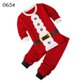 Girls Boys Father Christmas Santa Claus Clothing Set Long Sleeve hoody Pants two pieces winter casual