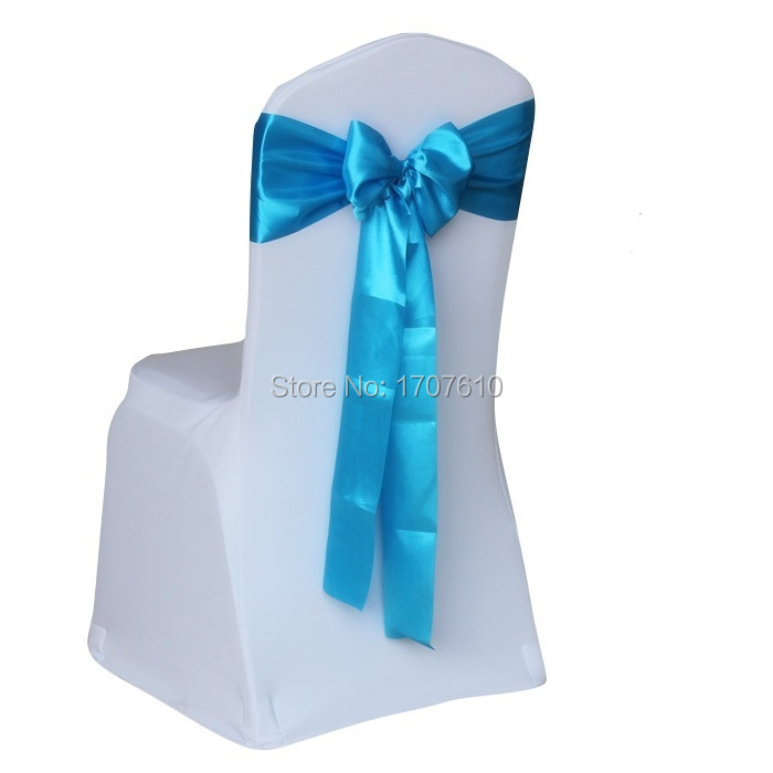 FREE SHIPPING 100pcs Chair cover Satin chair sashes wedding party banquet decoration 30232(China (Mainland))
