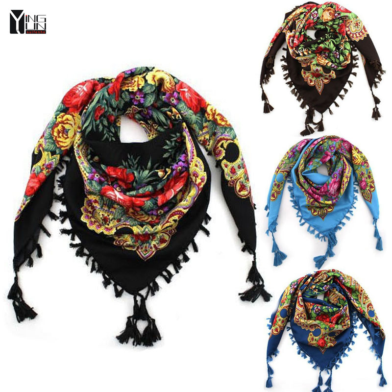 2015 New Fashion Ladies Big Square Scarf Printed Women Brand Wraps Hot-Sale Winter ladies Scarves cotton india floural headband(China (Mainland))