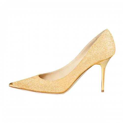 womens pointed toe glitter gold heels high heel stiletto