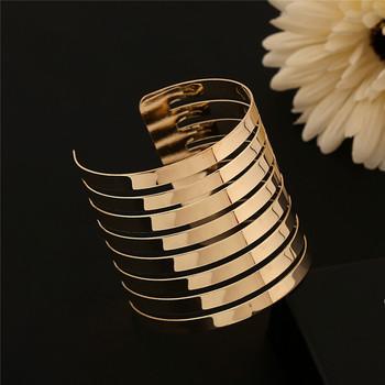 Lackingone полые дизайн одежда Pulseiras золото и серебро открыл браслеты манжетного ...