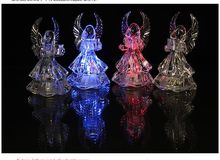 Acrylic Angel Figurine Night Light Random Color For Home Decoration And Holiday Gift(China (Mainland))