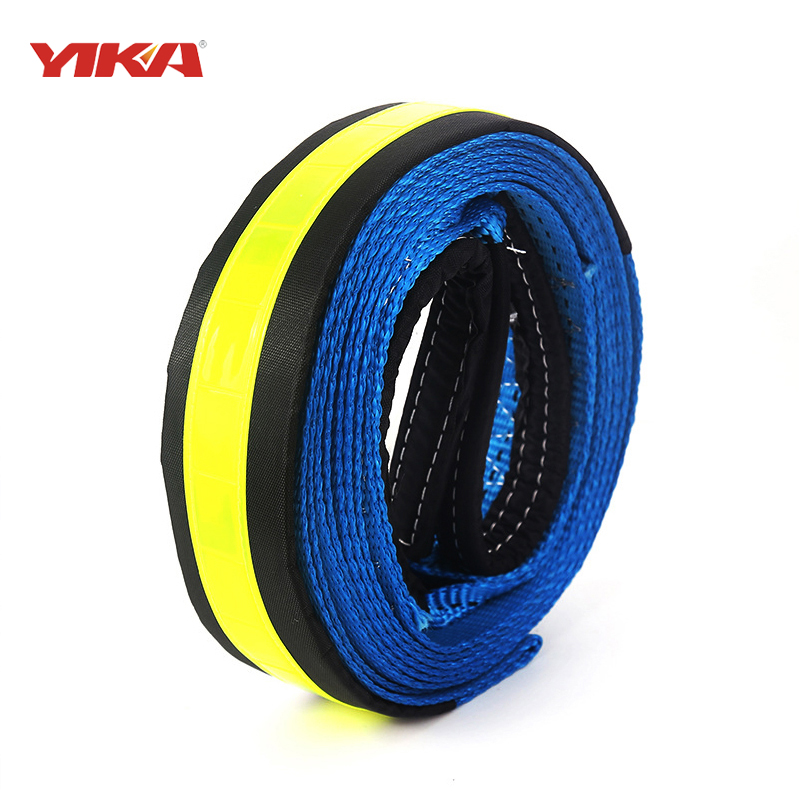 5M 8Tons Tow Cable Tow Strap Car Towing Rope With Hooks High Strength Nylon For Heavy Duty Car Emergency Send Gloves(China (Mainland))