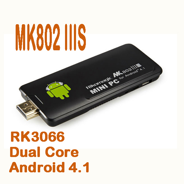 50% shipping fee Rikomagic MK802 IIIS Mini PC Bluetooth Mobile Remote Control RK3066 Cortex A9 1GB/8GB TF card hdmi(China (Mainland))