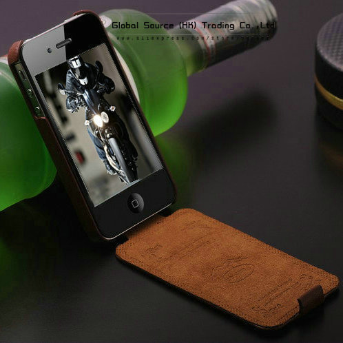 Top quality genuine leather case for Iphone 4s 4g 5g Original Faddist ultra thin leather cover for iphone4 luxury cell phone bag