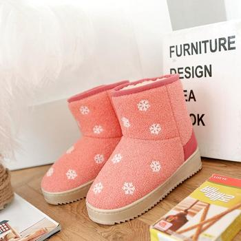 2015 New Winter Ladies Snow Shoes Platforms Casual Snow Printed Women Short Warmer Sweet Boots 30