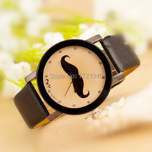 New Fashion Geneva High Quality Brand Watches Retro Mustache couple Leather Watch Quartz Wristwatches Students watch SB035P