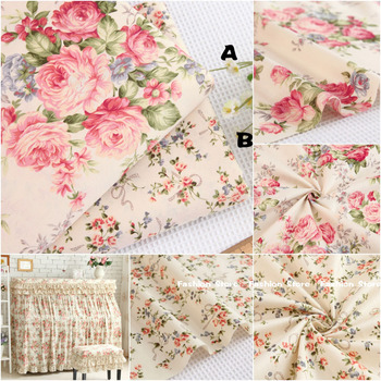 160*100cm 100% cotton fabric twill Flower fabric DIY for Rural bedding cloth Sewing patchwork quilting fabrics