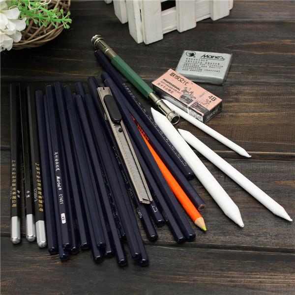 Student Stationery Pencil Sketch Drawing Tool Kit Writing Arts Crafts(China (Mainland))