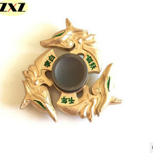 Buy 2017 New golden dragon Fidget spinner Zinc alloy Metal rotary EDC hand spinner autism ADHD Focus Stress Fingertip gyro for $4.79 in AliExpress store
