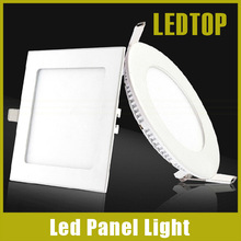 Indoor Led Downlight Square Round 6W 9W 12W 15W 20W 25W Recessed Ceiling Panel Downlight Bulb AC 85-265V Lamp(China (Mainland))