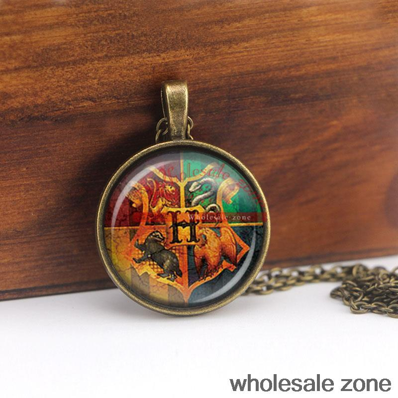 WZA1044 harry potter hogwarts crest pendant NECKLACE rowena ravenclaw fashion jeweLry best gift for fiend(China (Mainland))
