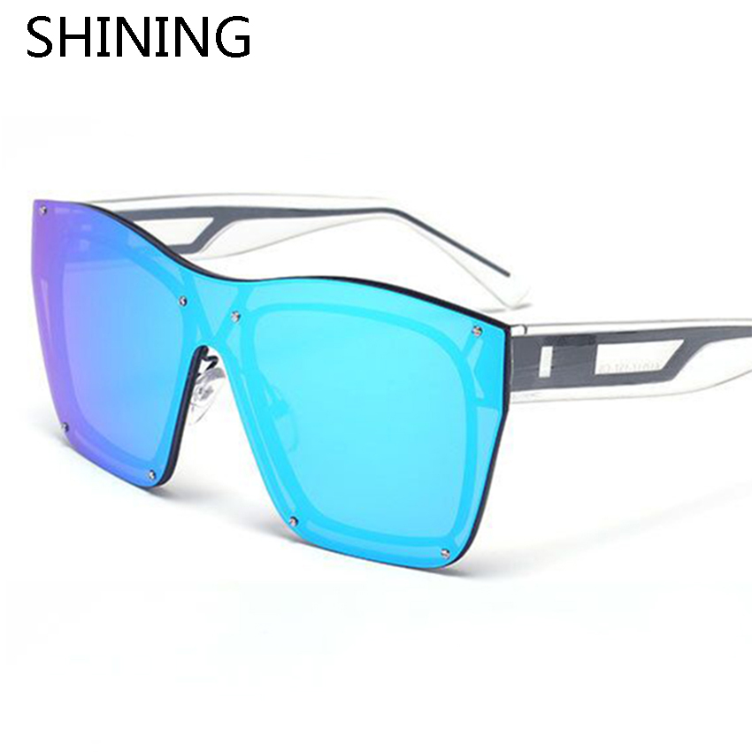 2016 New Fashion Oversize Frameless Goggle Sunglasses Men Women Summer Style Brand Designer Vintage Rimless Sun Glasses Oculos(China (Mainland))