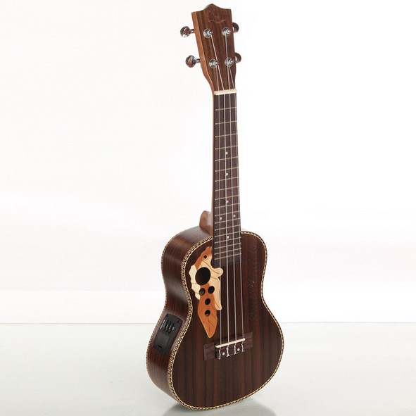 Acoustic Electric Ukulele with EQ Ukulele With Aquila Strings 23 inch Small Hawaiian Guitar+ Black Bag<br><br>Aliexpress