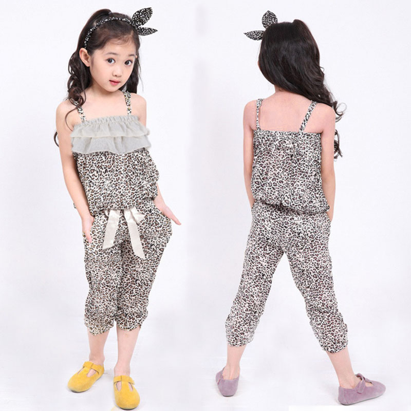 New 2014 Free Shipping children Leopard Top + Shorts Children Kids Girls Leopard Sets Clothing Sets Summer free shipping<br><br>Aliexpress