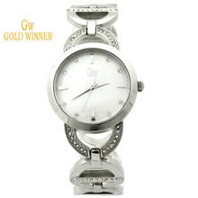 Ganador del oro europa y los estados unidos de lujo elipsoide señora impermeable de acero inoxidable relojes GW180057