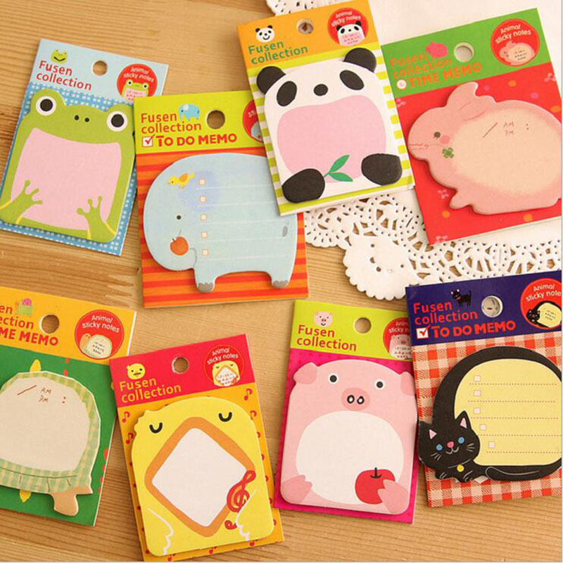 Creative Stationery Forest Animal Series Cute Paper Memo Pad / Sticker Post Sticky Notes Notepad School Office Supplies(China (Mainland))