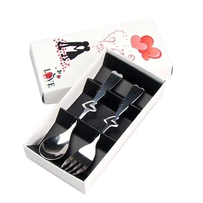 Fun Life Creative Gift Spoon Fork Chopsticks Cutlery Set Travel Camping Picnic Necessity Kit Portable Tableware 2p/set AF064(China (Mainland))