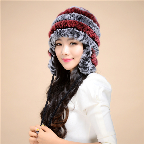 2014 new fashion fur hat ear cap Rex wool Korean version millinery - Standing proudly snow store