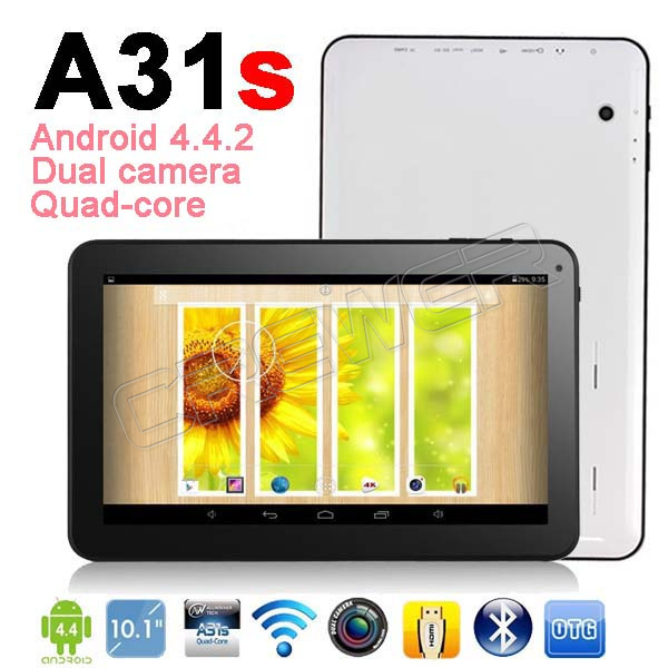 NEW 10 1 Android 4 4 2 Quad Core tablet10 Allwinner A31s QuadCore android tablet with