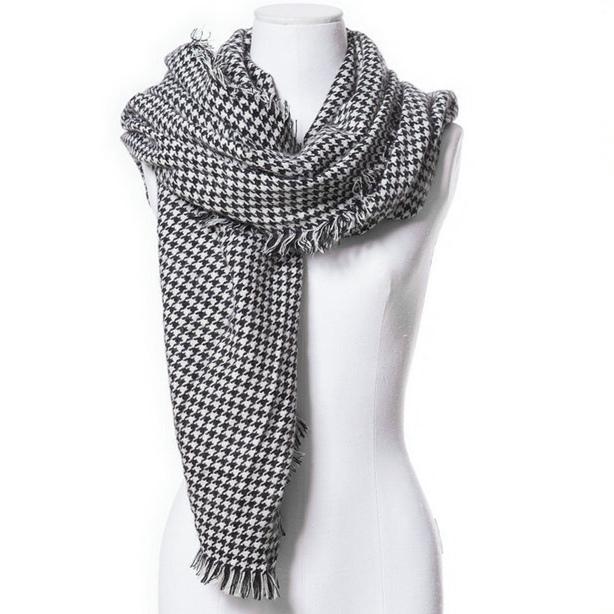 2016 новое поступление зима мода женщин бренд дизайн евро и америке улице хаундстут птица напечатанный шарф большой размер шали