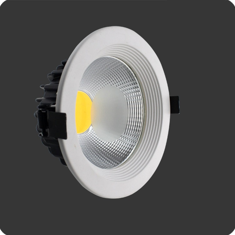 10pcs/lot high power 30w led downlight 8 inch COB downlight industrial lamp AC110-240V warm white cold white DHL Free shipping(China (Mainland))