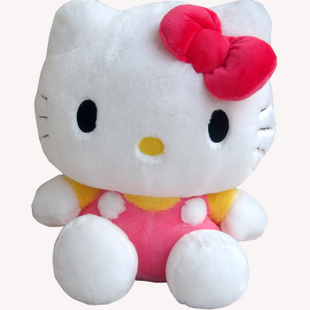 Girls pink cat birthday gift hello kitty doll pink colour about 35cm plush toy t764(China (Mainland))