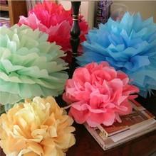 20000pcs 14 inch (35cm) Tissue Paper Pom Poms Flower Balls, Wedding Pom Poms, Baby Shower, Nursery, Wedding Decoration(China (Mainland))