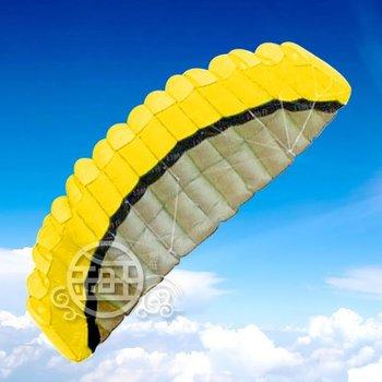 2.5 m 2 Line Stunt Parafoil POWER Sport Kite/Yellow