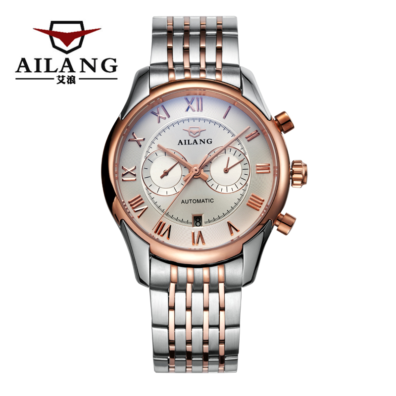 AILANG 6806 Switzerland watches men luxury brand Sport utility automatic mechanical watch chronograph gold relogio masculino<br><br>Aliexpress